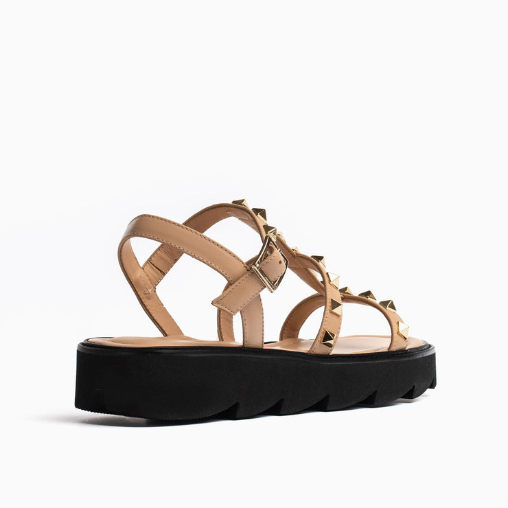 Jon Josef Alcon Lug Sole Sandal in Natural Leather