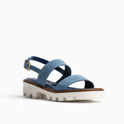 Jon Josef Arca Lug Sole Sandal in Light Denim