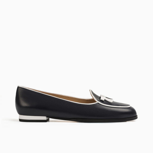 Jon Josef Belgica Loafer in Navy Leather/White