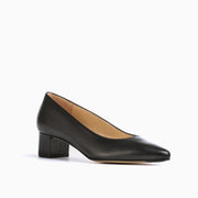 Jon Josef Boston Low Block Heel in Black Leather