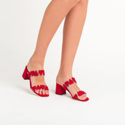 Jon Josef Dual Sandal in Red Suede