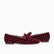 Jon Josef Gatsby Diamonds Flat in Burgundy Velvet