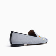 Jon Josef Gatsby Nautical Flat in Blue Linen