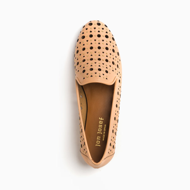 Jon Josef Gatsby Godela Flat in Natural Leather
