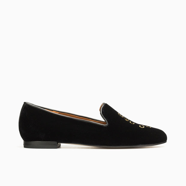 Jon Josef Gatsby Keep Calm Flat in Black Velvet