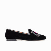 Jon Josef Gatsby Love Flat in Black Velvet