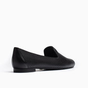 Jon Josef Gatsby Perforated Flat in Black Leather