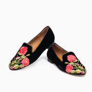 Jon Josef Gatsby Rose Flat in Black Velvet