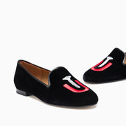 Jon Josef Gatsby Statement Flat in Black Velvet