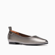 Jon Josef Gant Ballerina Flat in Pewter-Grey Leather