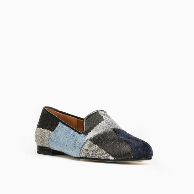 Jon Josef Gatsby Patchwork Flat in Grey Texpatch