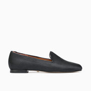 Jon Josef Gatsby Embossed Satin Flat in Black Texespiga