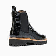 Jon Josef Gia-Quilted Chelsea Boot in Black Patent