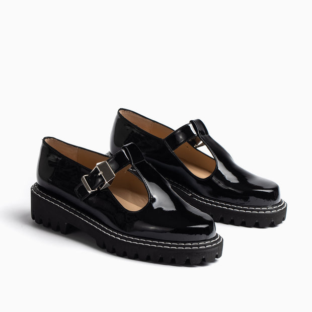 Jon Josef Girl Mary Jane in Black Patent