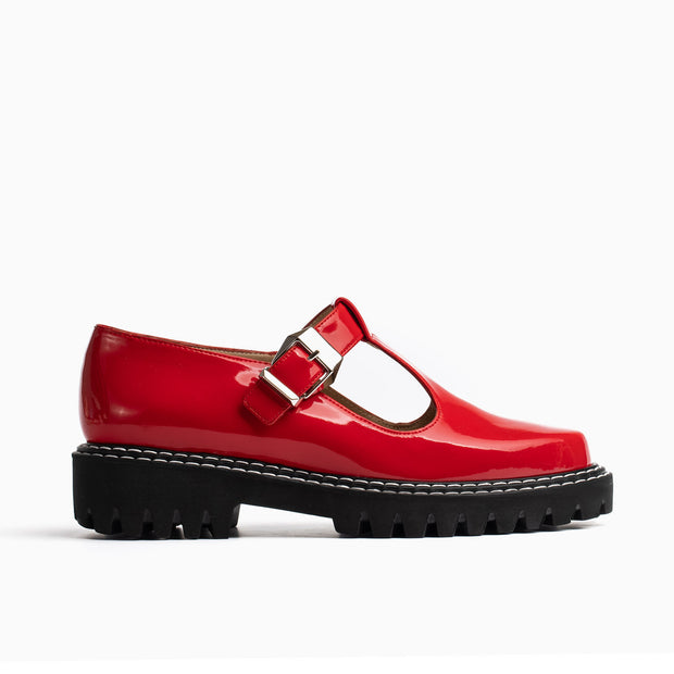 Jon Josef Girl Mary Jane in Red Patent
