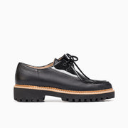 Jon Josef Glacier Lug Oxford in Black Leather