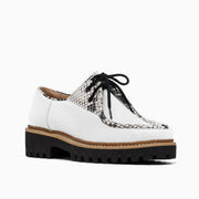 Jon Josef Glacier Lug Oxford in White Leather
