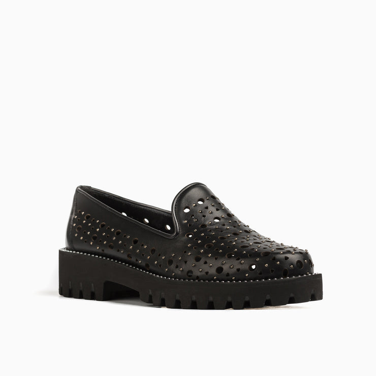 Jon Josef Gogo-Godela Lug Shoe in Black Leather