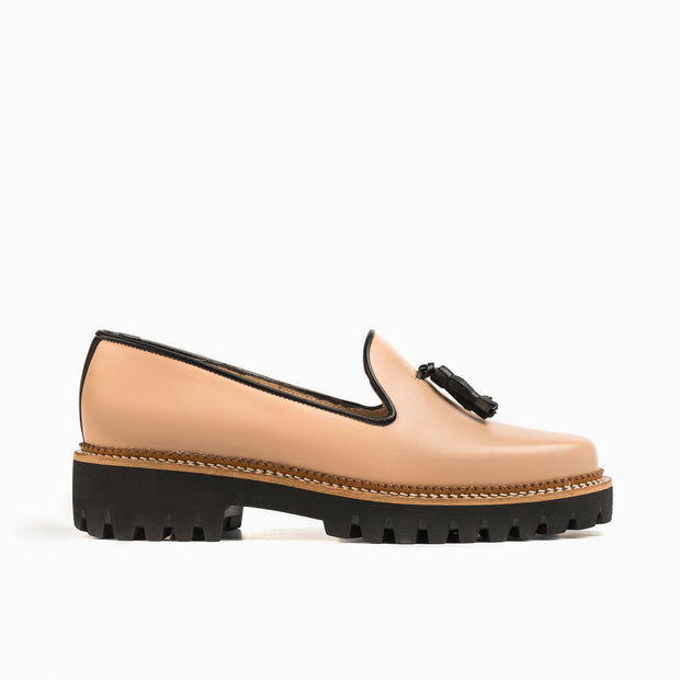 Jon Josef Gogo Lug Shoe in Nude Leather
