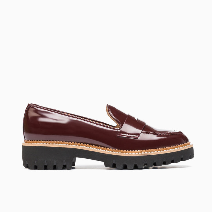 Jon Josef Gogo-Penny Loafer in Burgundy Florentic