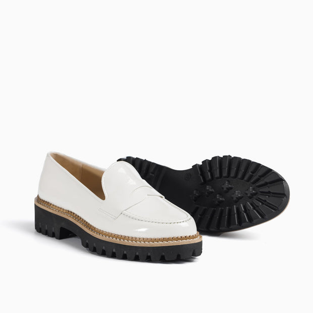 Jon Josef Gogo-Penny Loafer in White Patent