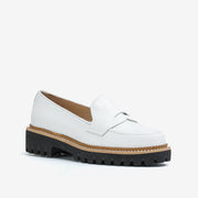 Jon Josef Gogo-Penny Loafer in White Calf Leather