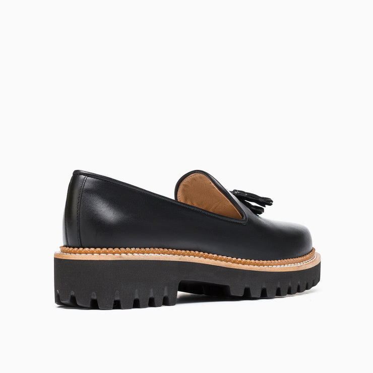Jon Josef Gogo Lug Shoe in Black Leather