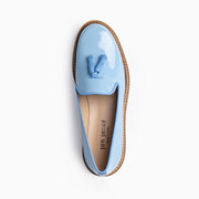 Jon Josef Gogo Lug Shoe in Light Blue Patent