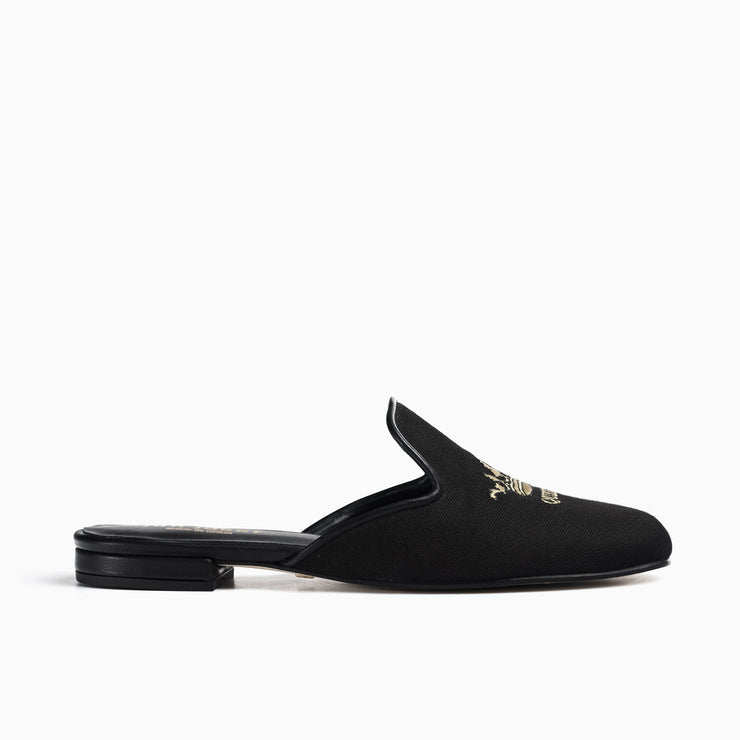 Jon Josef Great Queen Bee Mule in Black Linen