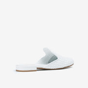 Jon Josef Great Woven Mule in White Leather