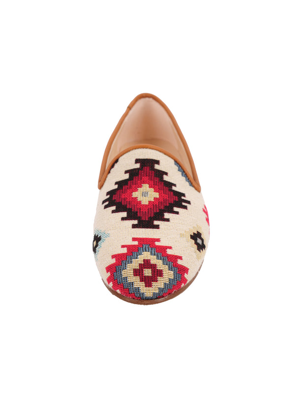 Women's Tan Aztec Loafer Front 4