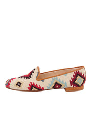 Women's Tan Aztec Loafer Side 6