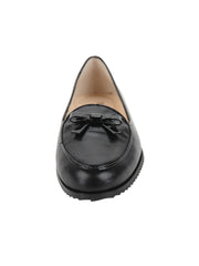 Black Leather Belgian Loafer Front  4