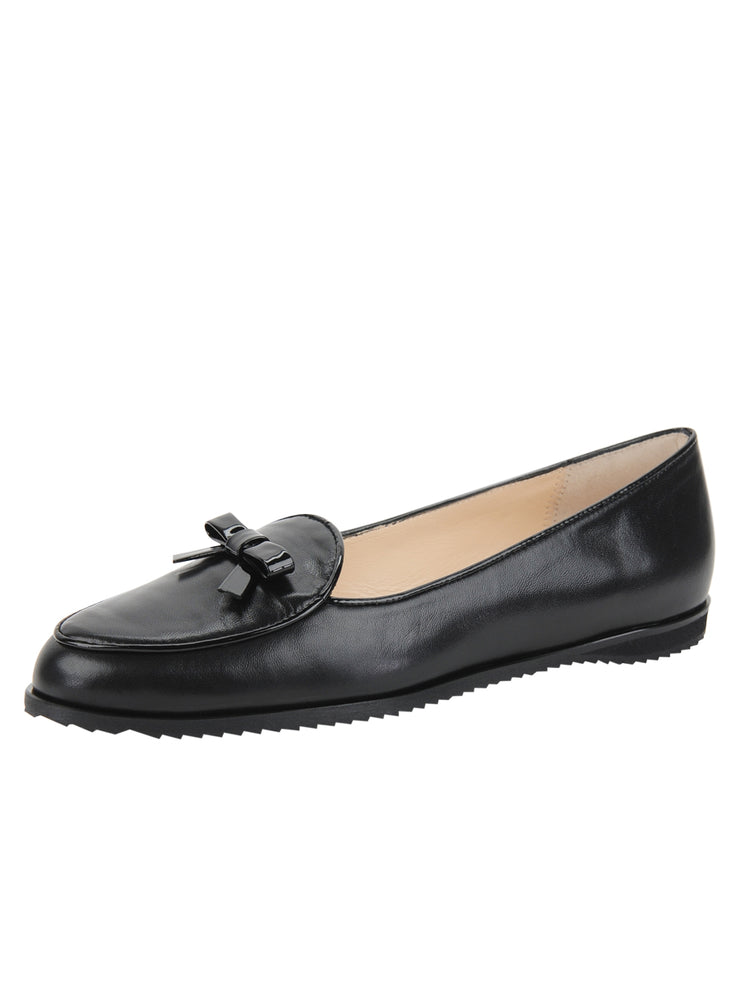 Black Leather Belgian Loafer Full