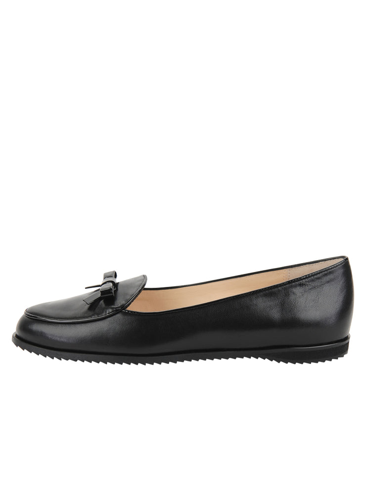 Black Leather Belgian Loafer Side 7