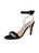 Women's Suede Black Strap Sandal High Heel Full