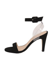 Women's Suede Black Strap Sandal High Heel Side 6