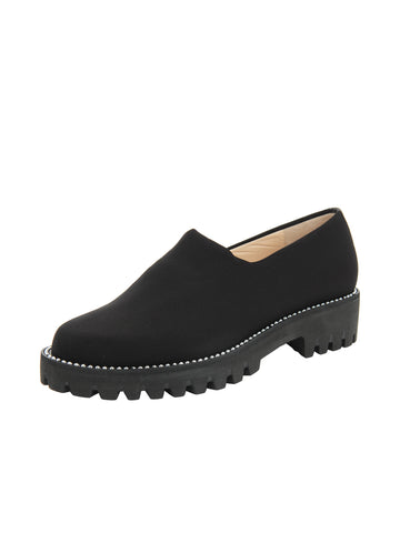 Black Elastic Slip On Shoe Full