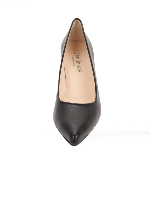 Black Pointed Toe Heel Front  4
