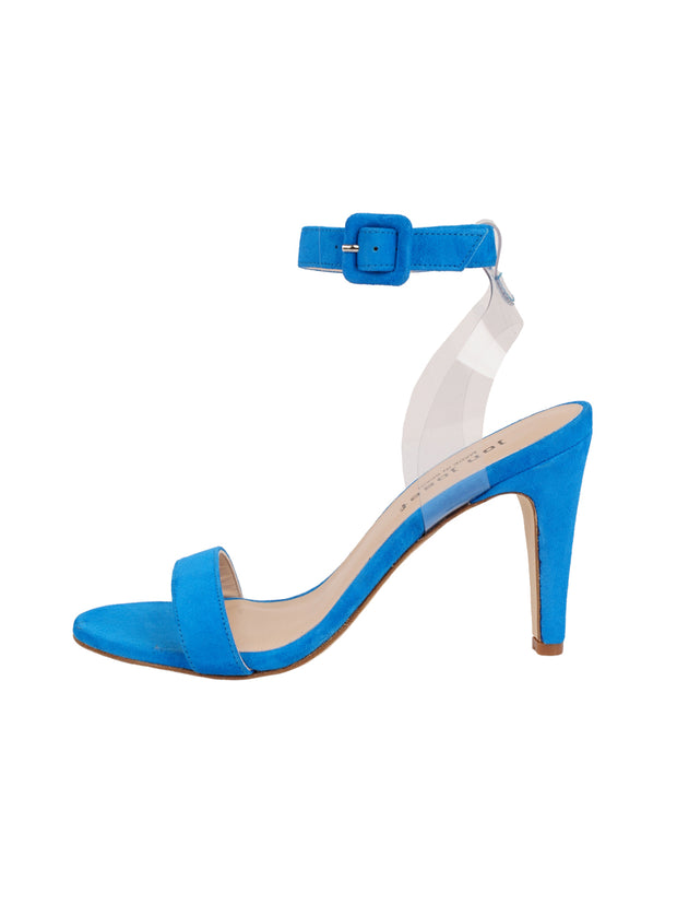 Women's Suede Blue Strap Buckle Sandal High Heel Side 6