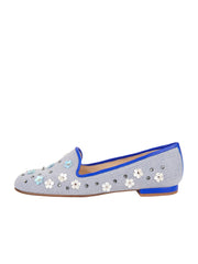 Women's Blue Flower Summer Loafer Side 6