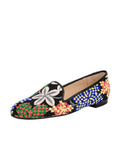 Women's Blue Flower Tapestry Loafer Full