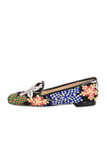 Women's Blue-Flowe Tapestry Loafer Side 6