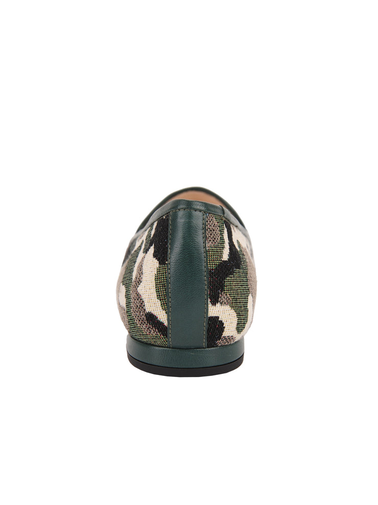 Women's Green Camoflage Loafer Back 2
