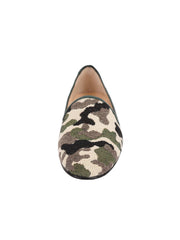 Women's Green Camoflage Loafer Front 4