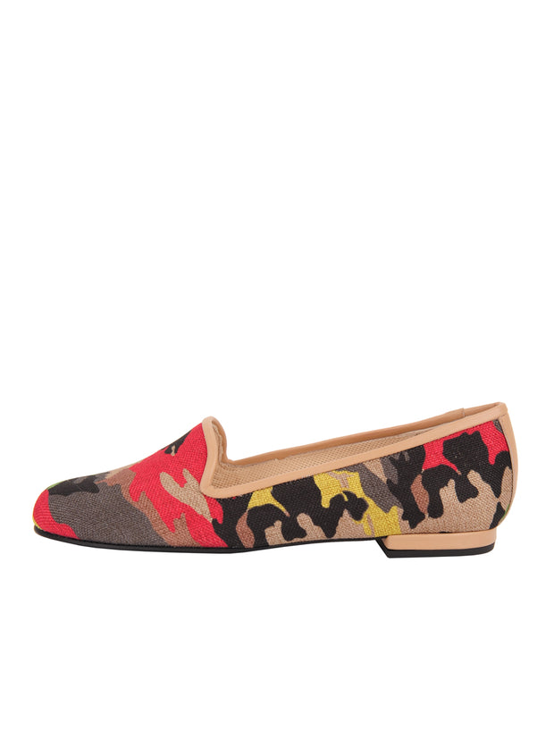 Women's Nuetral Camoflage Loafer Side 6