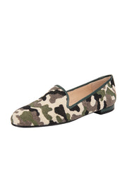 Women's Green Camoflage Loafer Full
