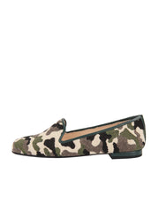 Women's Green Camoflage Loafer Side 6