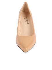 Ladies Nude Block Heel Shoe Front 4