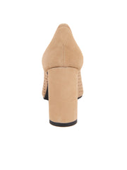 Tan Suede Pointed Toe Summer Heel Back 2
